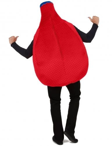 Rode Orangina™ fles kostuum voor volwassenen-2