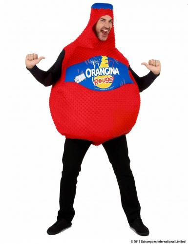 Rode Orangina™ fles kostuum voor volwassenen-3