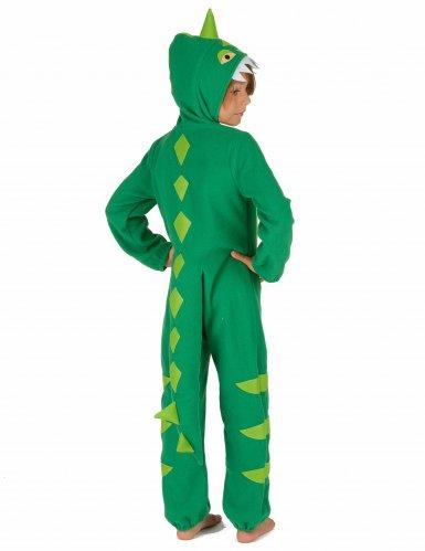 Groen en geel dino kostuum voor kinderen-2
