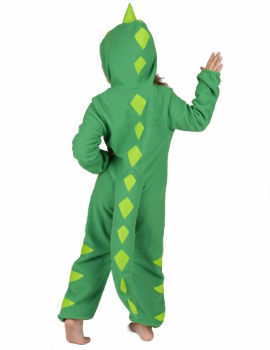 Groen en geel dino kostuum voor kinderen-4