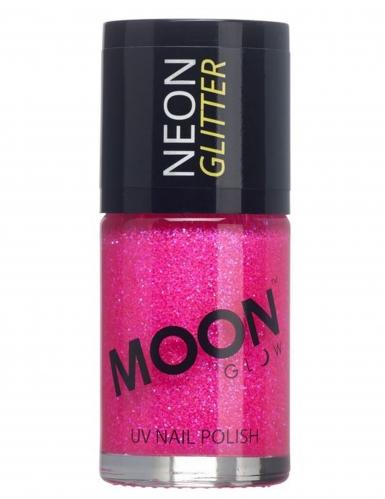 Moonglow© Fuchsia nagellak met fosforescerende glitters