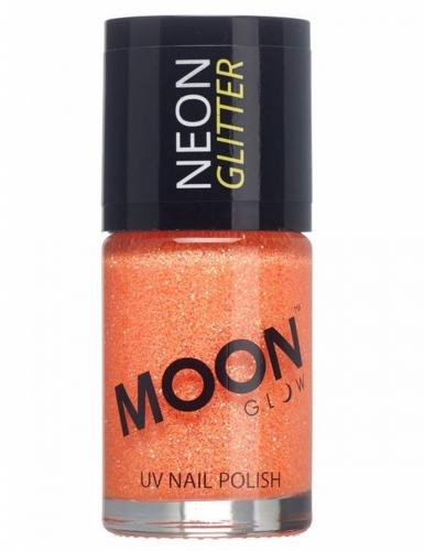 Moonglow© oranje nagellak met fosforescerende glitters