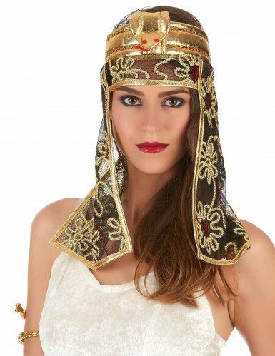 Zwarte en goudkleurige Egyptische sluier voor vrouwen-1