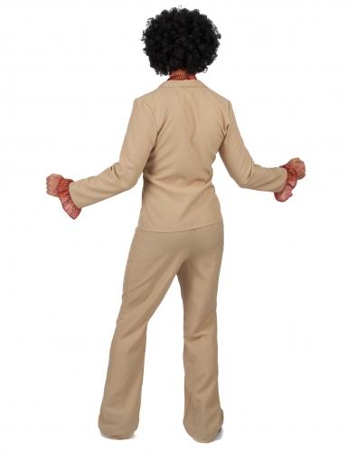 Beige disco kostuum met franjes voor mannen-2