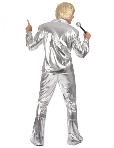 Glanzend zilverkleurig disco kostuum voor mannen-2