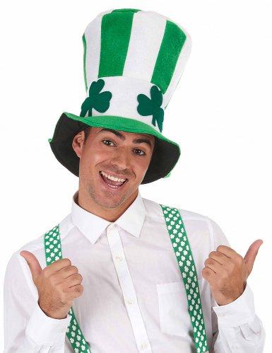 Groen-wit hoge hoed St Patrick's Day-1