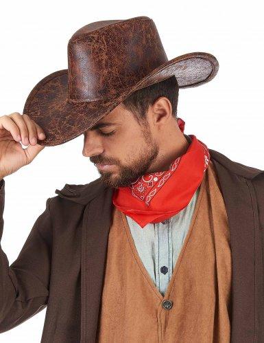 Cowboy hoed nep leer voor volwassenen-1