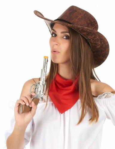 Cowboy hoed nep leer voor volwassenen-2