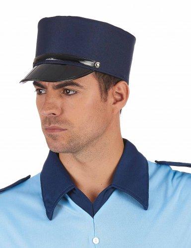 Blauwe politiepet voor volwassenen-1