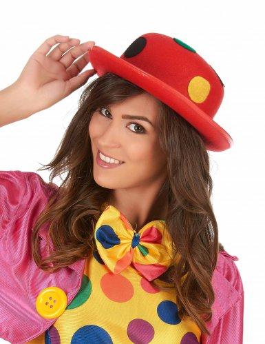 Rode clown bolhoed met stippen voor volwassenen-1