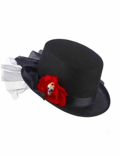 Hoge hoed Dia de los Muertos voor volwassenen-1