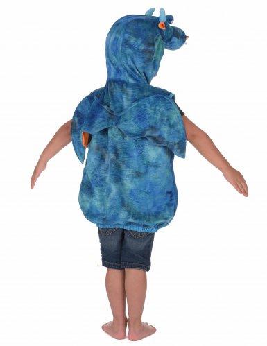 Blauw en oranje drakenkostuum voor kinderen-2