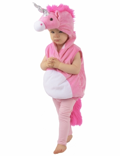 Roze eenhoorn kostuum voor kinderen-3