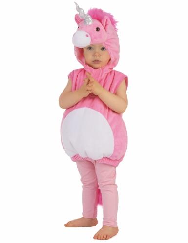 Roze eenhoorn kostuum voor kinderen-4