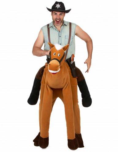 Man op de rug van een paard outfit voor volwassenen-1