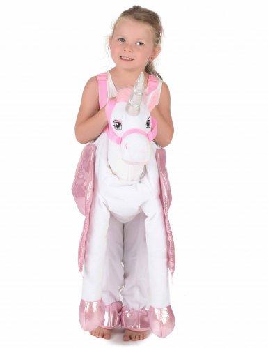 Op de rug van een eenhoorn kostuum voor kinderen-1