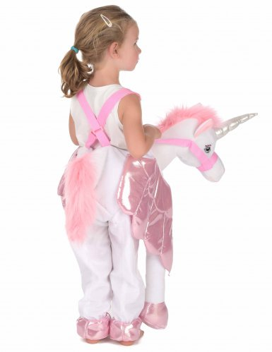 Op de rug van een eenhoorn kostuum voor kinderen-2