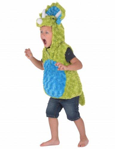Groen en blauw dinosaurus kostuum voor kinderen-1