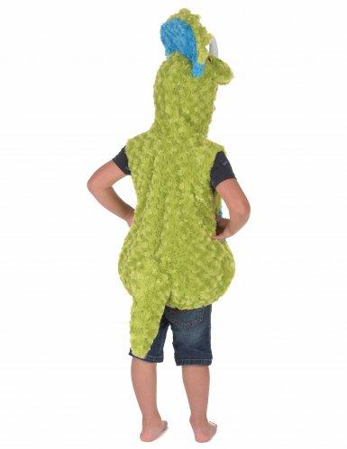 Groen en blauw dinosaurus kostuum voor kinderen-2