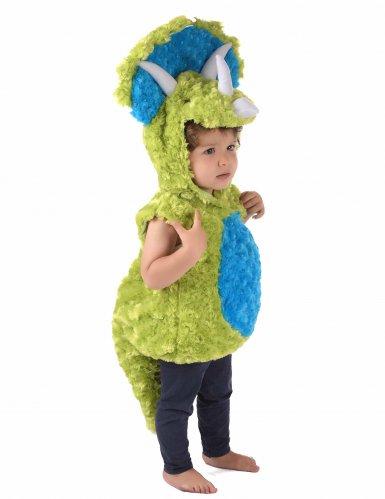 Groen en blauw dinosaurus kostuum voor kinderen-3