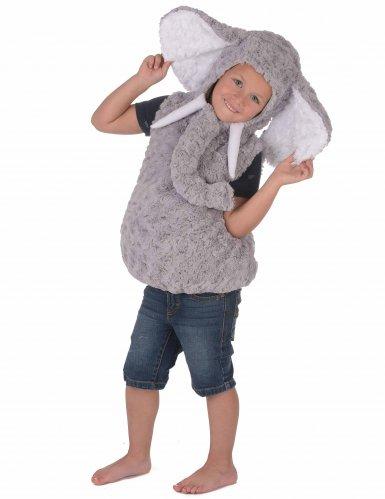 Grijze olifant kostuum voor kinderen-2