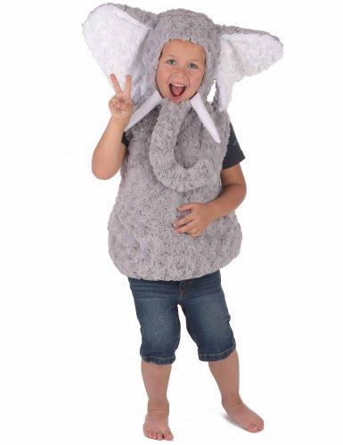 Grijze olifant kostuum voor kinderen-3