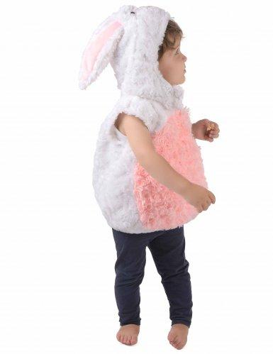 Wit en roze konijn kostuum voor kinderen-1