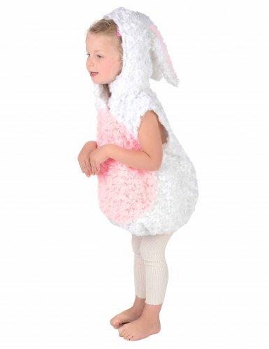 Wit en roze konijn kostuum voor kinderen-2