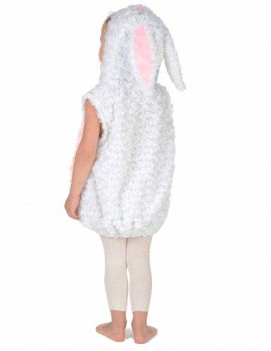 Wit en roze konijn kostuum voor kinderen-3