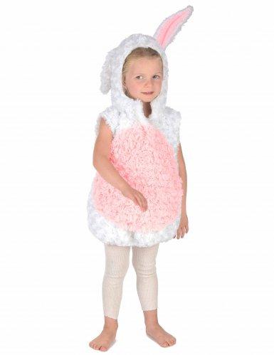 Wit en roze konijn kostuum voor kinderen-4