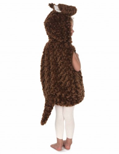 Bruin en wit pluche kangoeroe kostuum voor kinderen-3