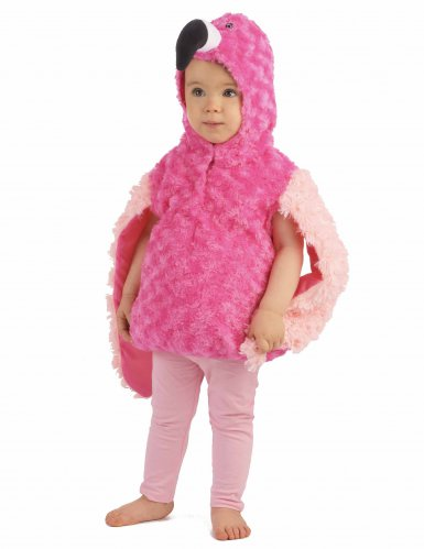 Pluche roze flamingo outfit voor kinderen