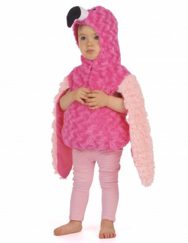 Pluche roze flamingo outfit voor kinderen-1