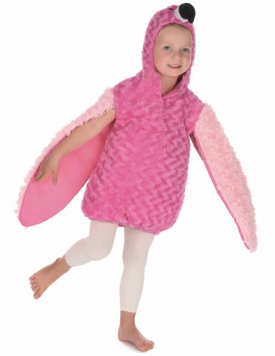 Pluche roze flamingo outfit voor kinderen-2