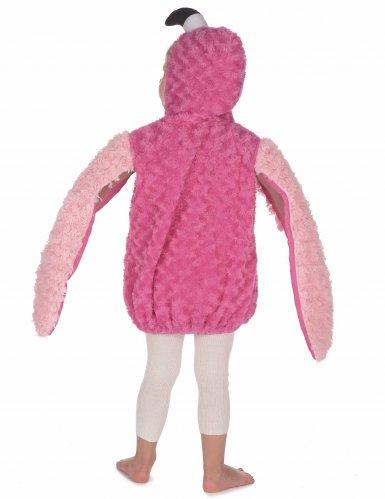 Pluche roze flamingo outfit voor kinderen-3