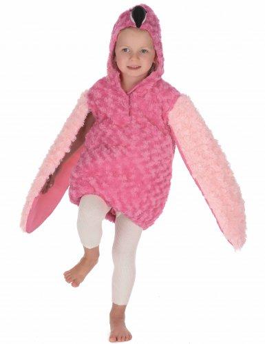 Pluche roze flamingo outfit voor kinderen-4