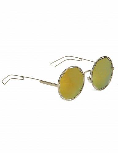 Ronde zilverkleurige retro bril voor volwassenen