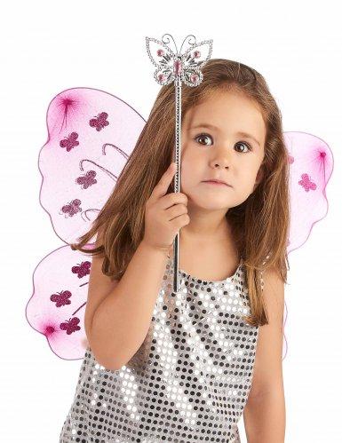 Roze magische vlinder toverstaf-1