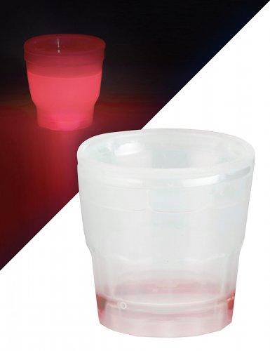 Rood lichtgevend shotglas