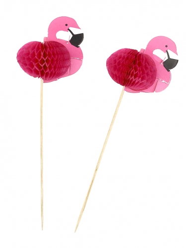 12 roze flamingo prikkers