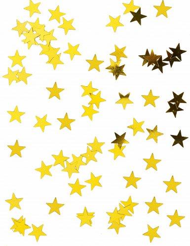 Metallic goudkleurige sterren confetti
