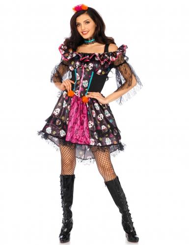 Dia de los Muertos pop kostuum voor vrouwen