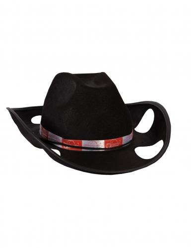 Cowboy hoed met beker houder voor volwassenen