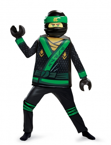 Deluxe zwart groen Lloyd Ninjago™ Lego® kostuum voor kinderen-1