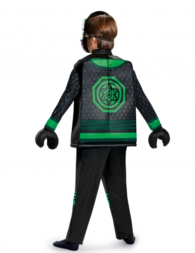 Deluxe zwart groen Lloyd Ninjago™ Lego® kostuum voor kinderen-2