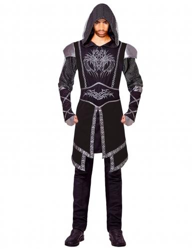 Zwart sluipmoordenaar kostuum voor volwassenen