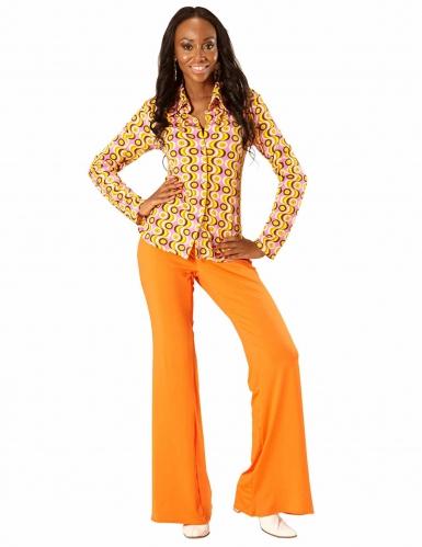 Jaren 70 disco blouse voor vrouwen