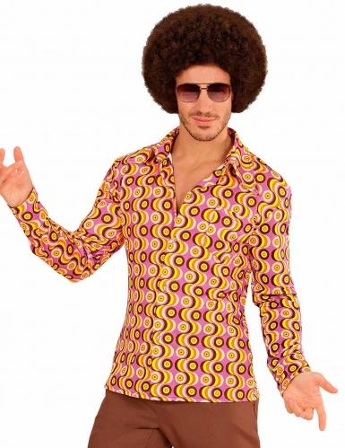 Groovy jaren 70 disco blouse voor mannen