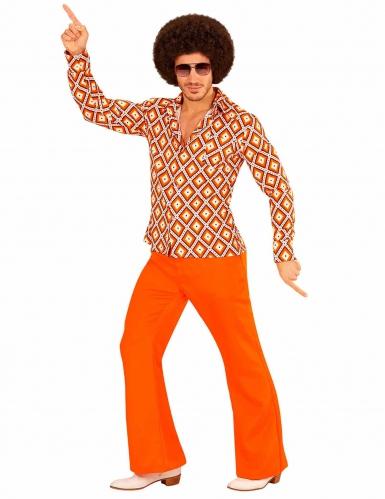 Retro groovy seventies kostuum voor mannen
