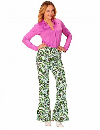 Groovy jaren 70 golven broek voor vrouwen